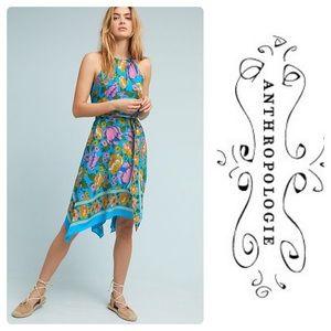 Anthropologie Floral Dinan Halter Dress High-Low